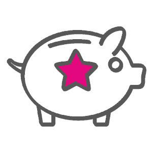 hucha-de-cerdito-con-estrella-rosa-concepto-de-ahorro-y-buenos-precios-en-Centro-Pylus-Xativa