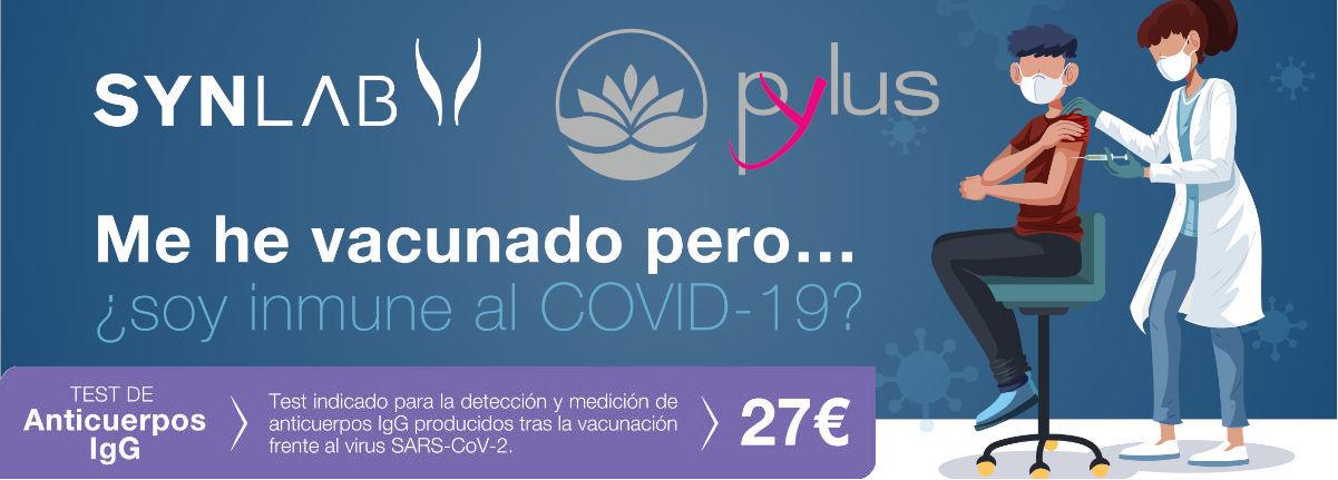 Oferta promoción test inmunidad covid tras vacuna en Centro Pylus